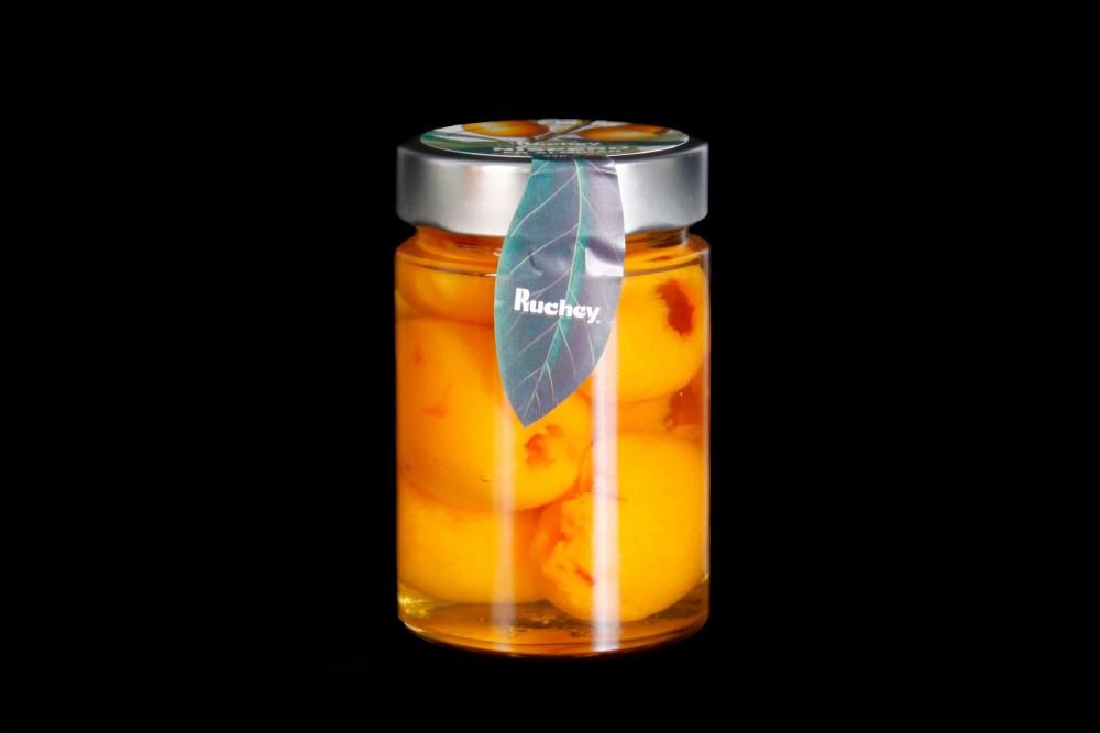 Disfruta de productos ya elaborados   NISPERO ALMIBAR CRISTAL 370 GR   FrutasNieves