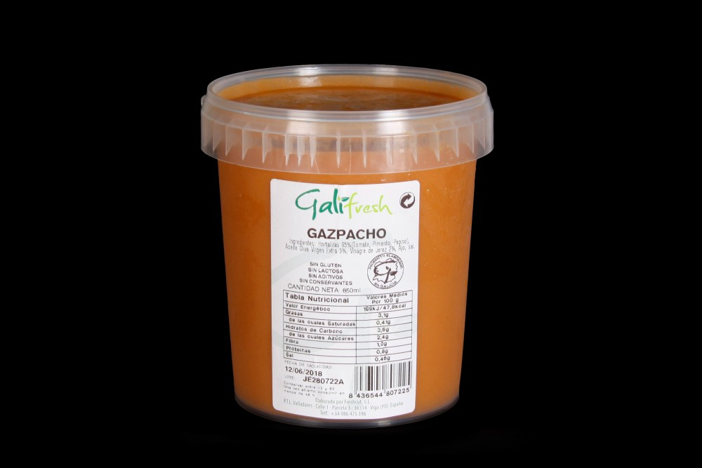 Disfruta de productos ya elaborados   GAZPACHO   FrutasNieves