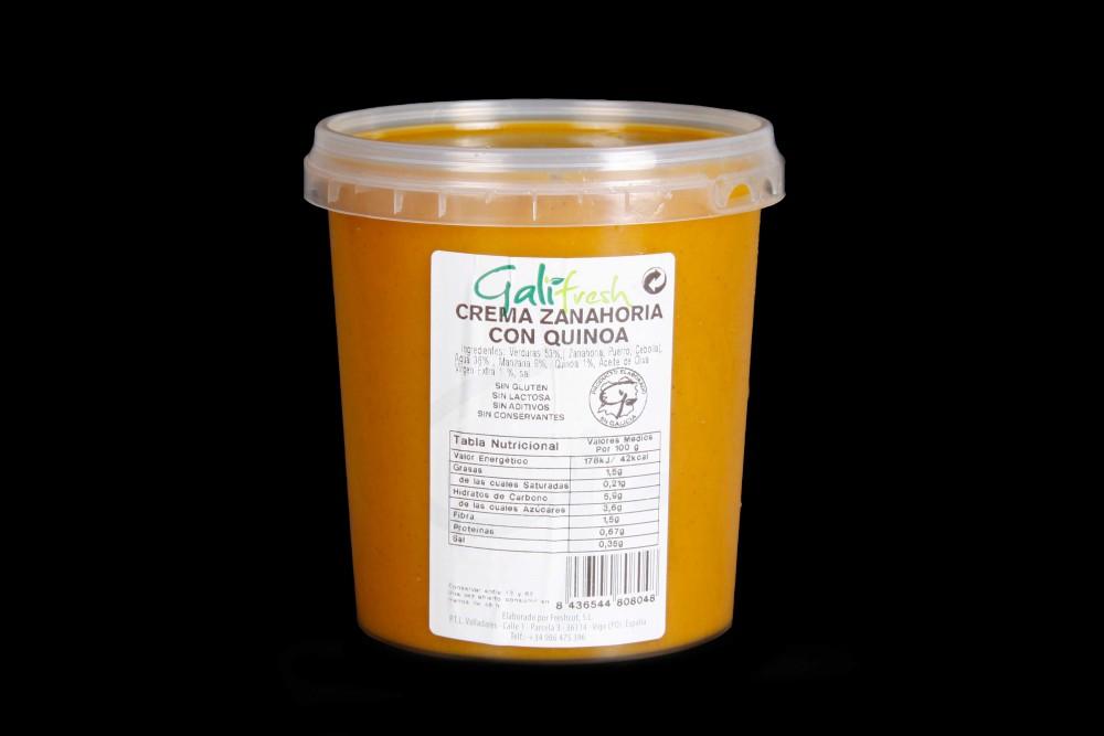 Disfruta de productos ya elaborados | CREMA DE ZANAHORIA CON QUINOA | FrutasNieves